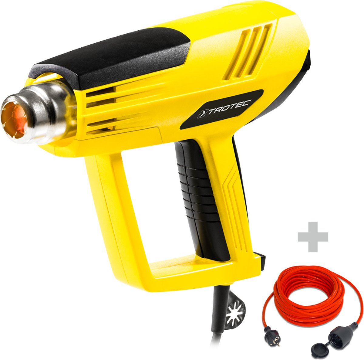 Trotec heteluchtpistool HyStream 2100 & kwaliteits verlengsnoer 15 m / 230 V / 1,5 mm² kopen