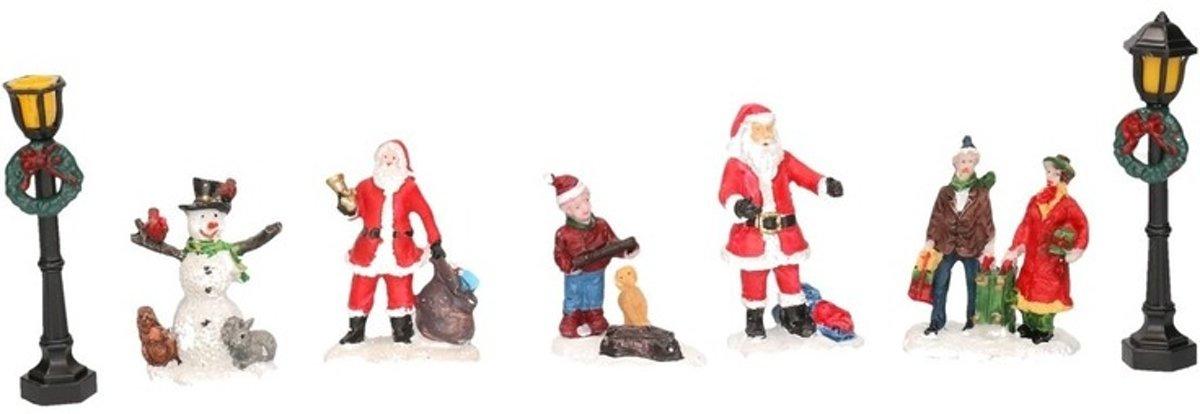 7x Kerstdorp figuren/poppetjes type 3 kopen