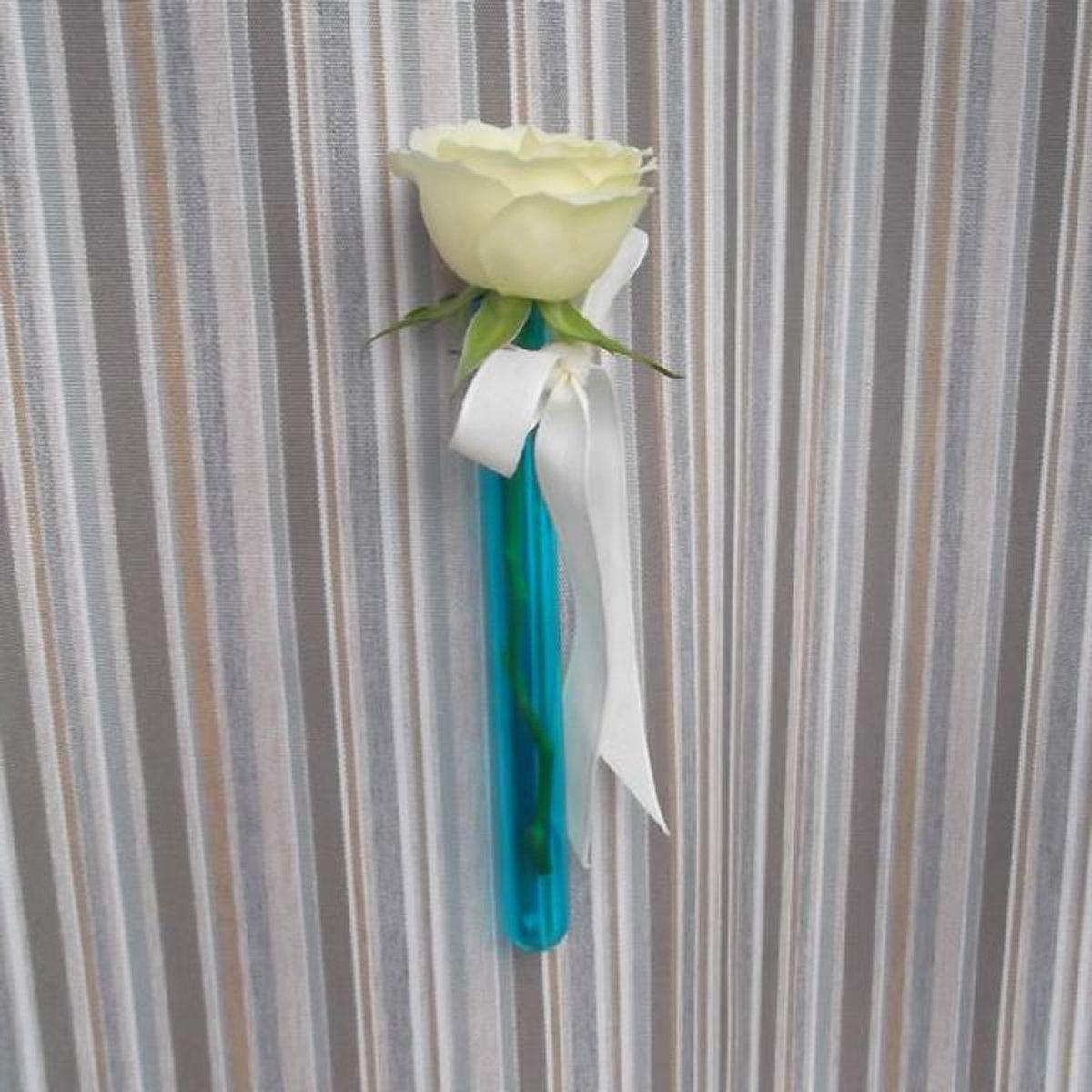 Bloemschikbuisje helder blauw glas 15 cm - set van 17 stuks kopen