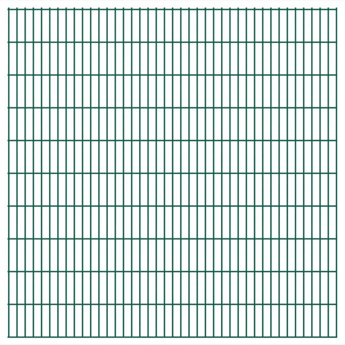 vidaXL Dubbelstaafmatten 2008 x 2030mm 44m Groen 22 stuks kopen
