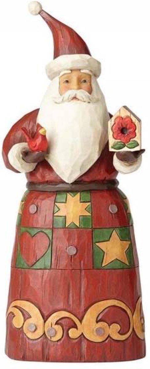 Jim Shore: Folklore Kerstman met Vogel huis. Beelden & Figuren kopen