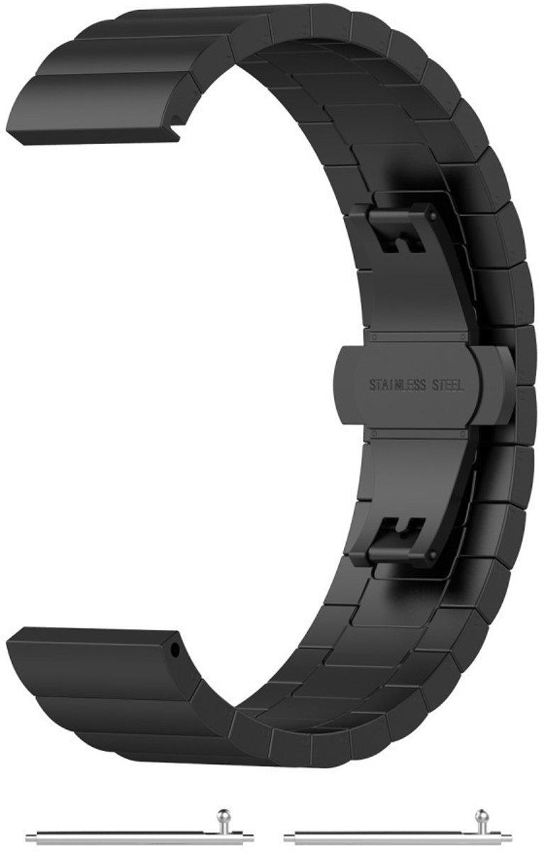 Just in Case Chain Metalen Watchband voor Withings Steel HR Sport - 1 schakel - zwart kopen