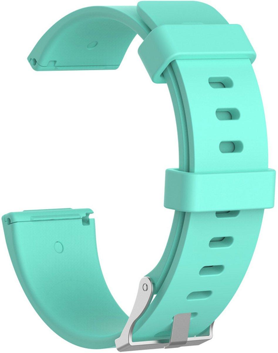 Siliconen armband bandtje polsband voor Fitbit Versa - Kleur - Bleu turquoise, Maat - S (Small) kopen