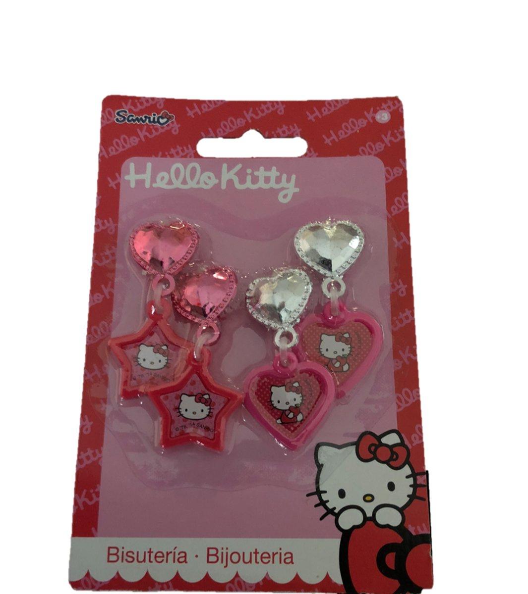 2 Paar Clip oorbellen Hello Kitty kopen