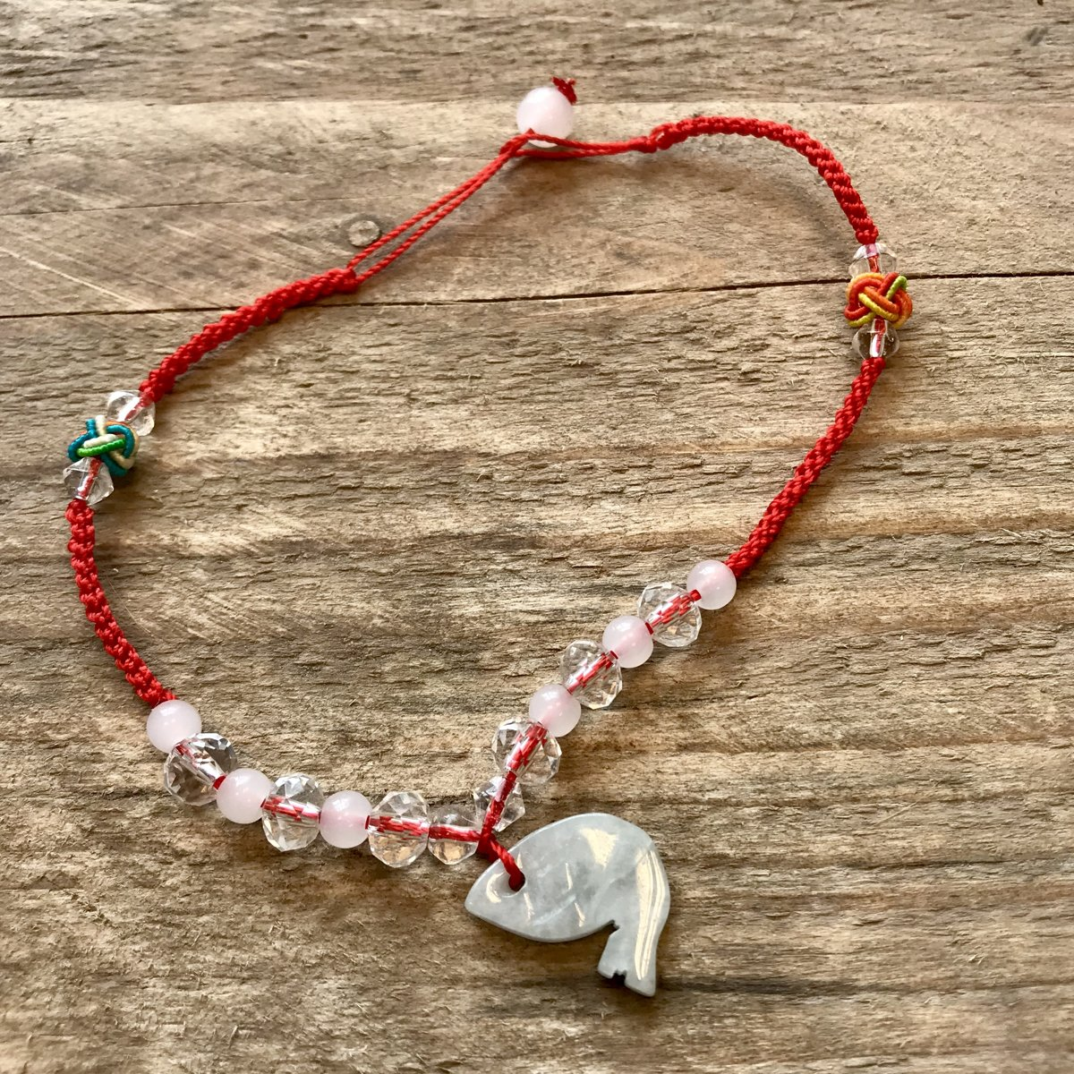 Jade | enkelbandje | rood kopen