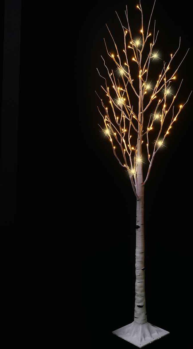 Luca Lighting - Berken Boom wit met 96 warme witte LED lampjes - H180cm kopen