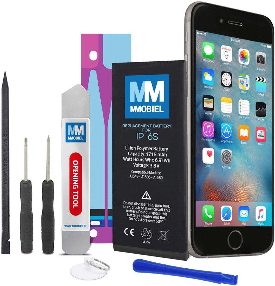 MMOBIEL Batterij / accu geschikt voor iPhone 6S 3.8v 1715 mAh 6.91 Wh + Anti-Statische Batterij Sticker inclusief benodigde reparatie gereedschap en een stap voor stap handleiding. kopen