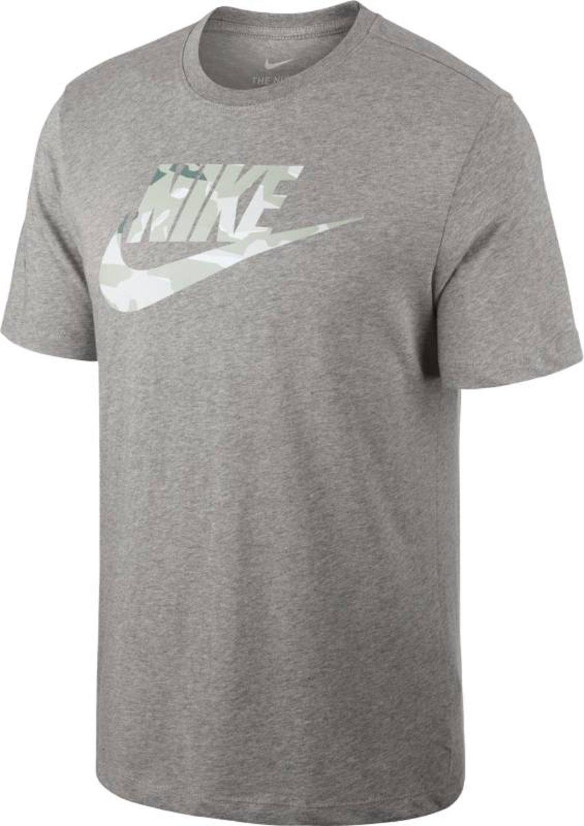 Nike M Nsw Tee Camo 1 Sporttop Heren Grijs