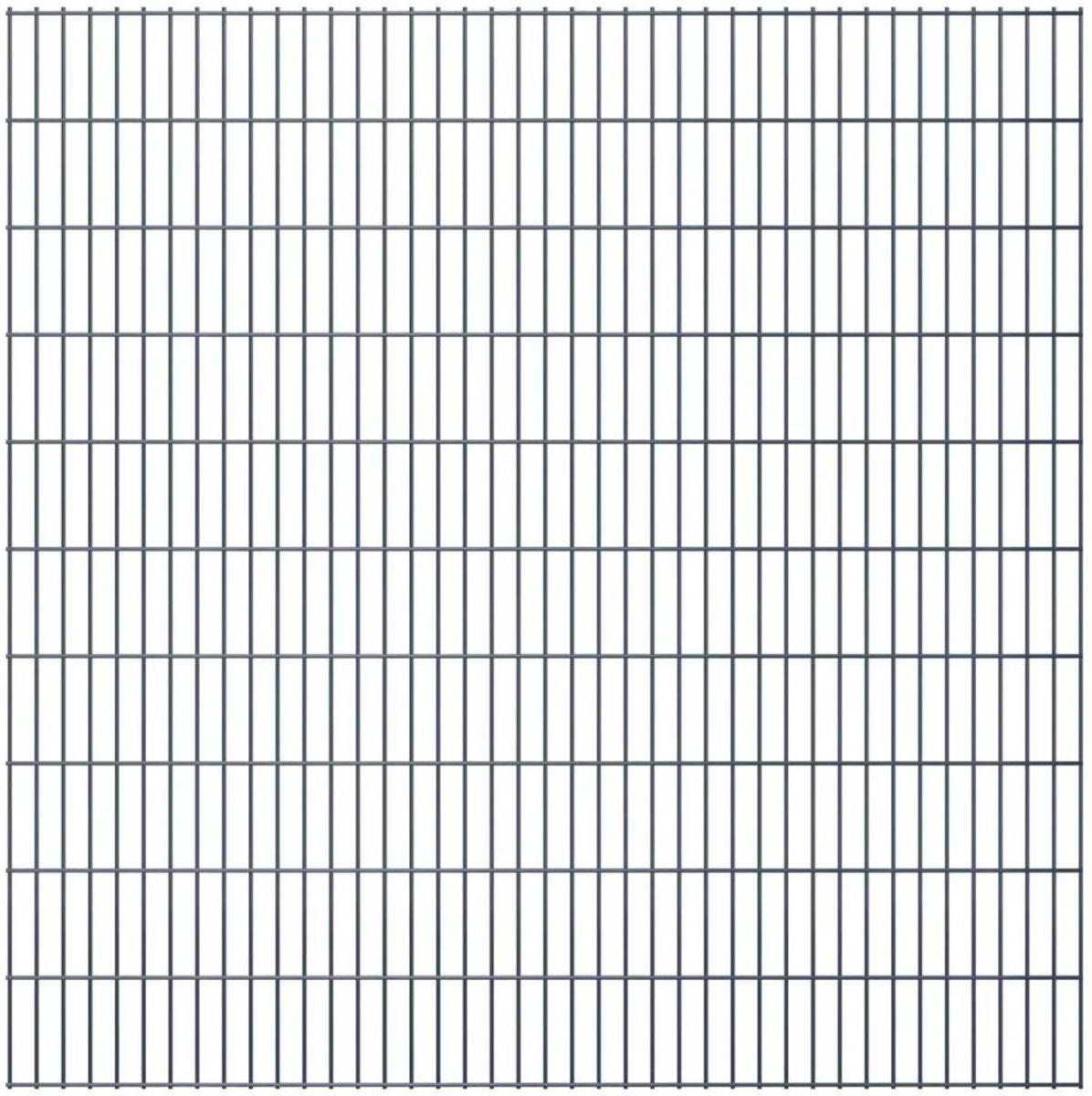 vidaXL Dubbelstaafmatten 2008 x 2030mm 50m Grijs 25 stuks kopen