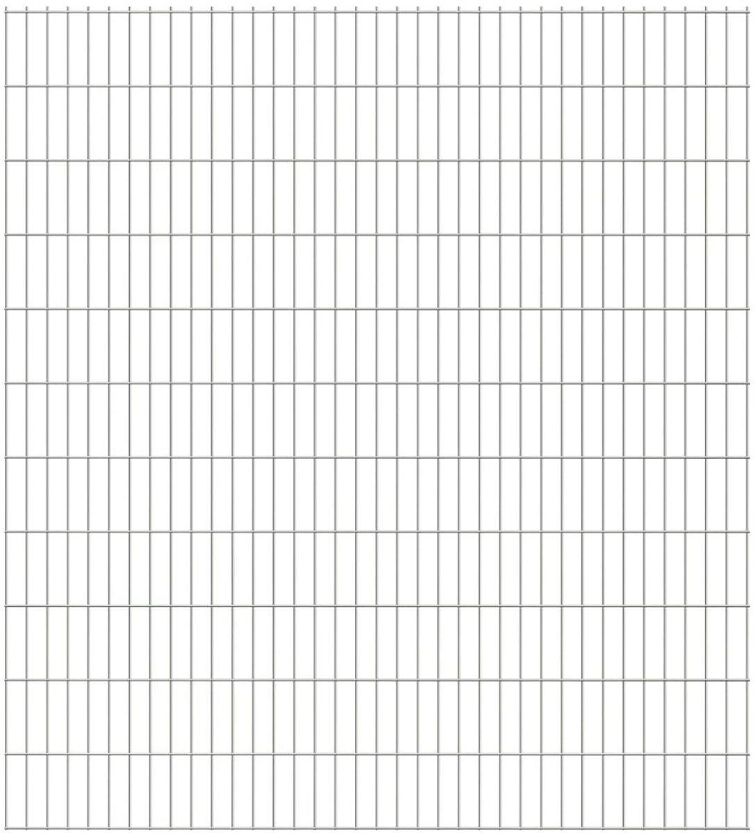 vidaXL Dubbelstaafmatten 2008 x 2230 mm 11 stuks (22 m) zilver kopen
