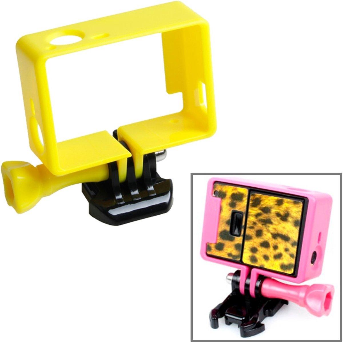 TMC Statiefbehuizing met hoge statiefframe behuizing voor GoPro HERO4 / 3 + / 3, HR191 (geel) kopen