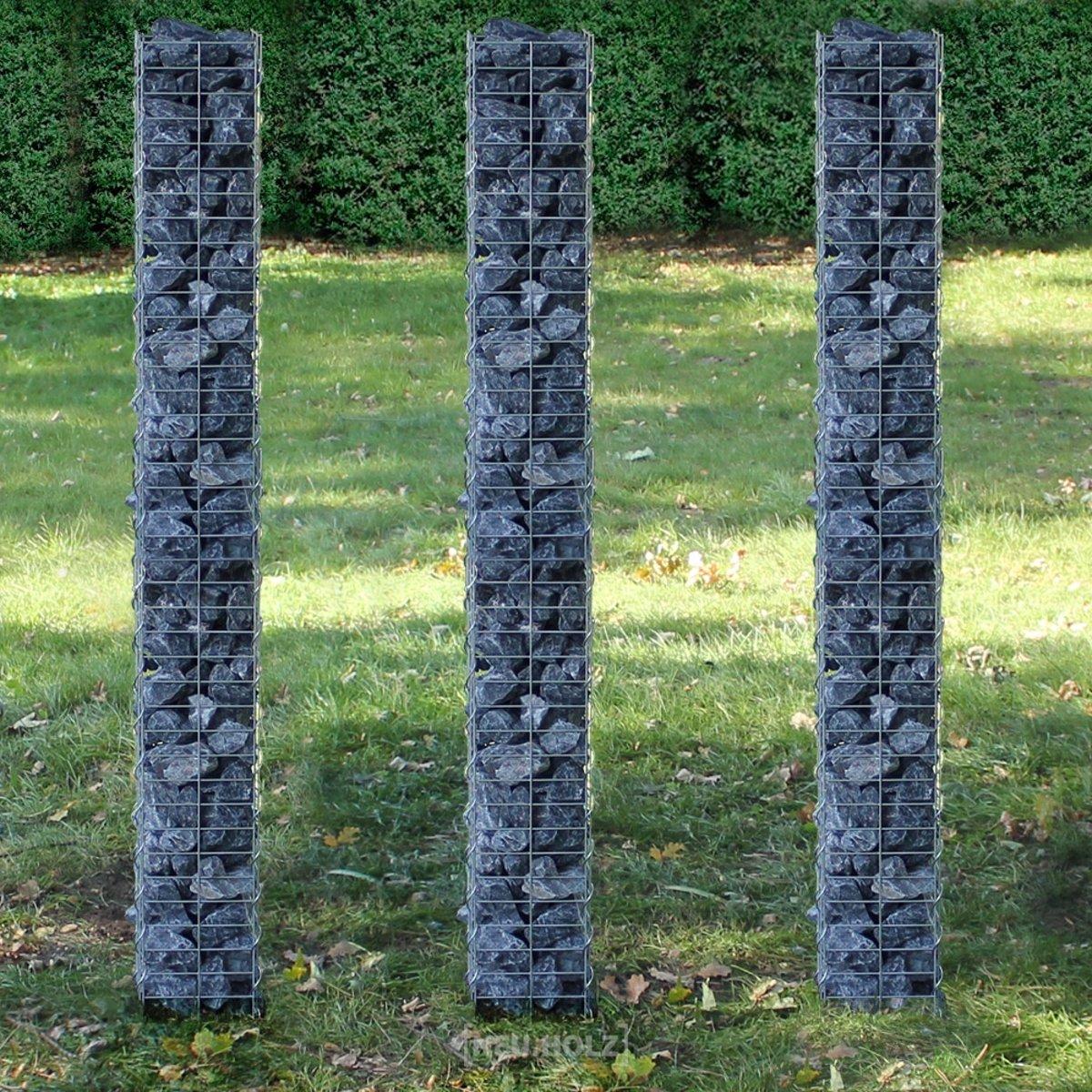 Schanskorf Zuilen - steenkorven - gabion - 3 stuks set kopen