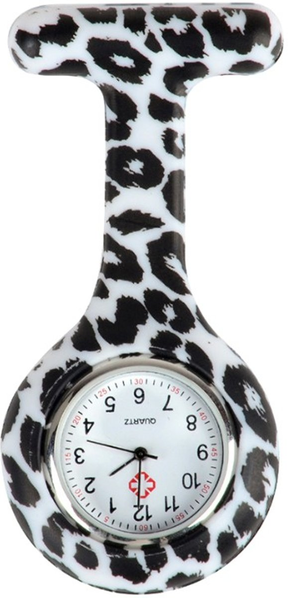 Fako Bijoux® - Verpleegstershorloge - Siliconen RVS Print - Dalmatiër kopen