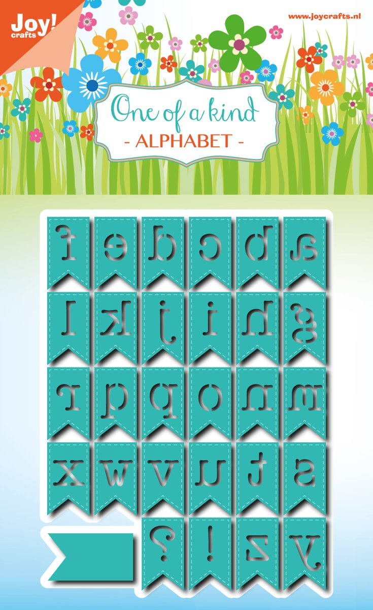 Joycrafts Noor! Snijstencils  - Die cut - Alfabetbanners 6002/0799 met GRATIS Tacky Tape 6 mm 6500/0122