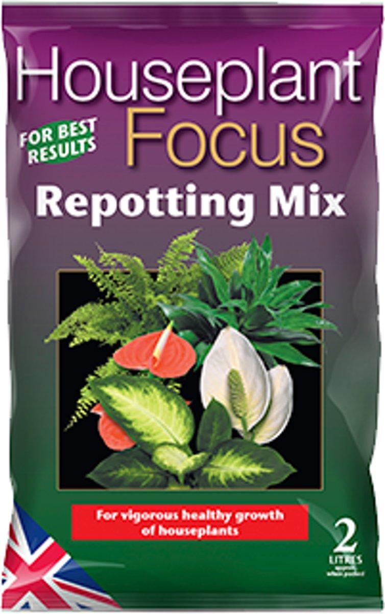 Houseplant Focus Repotting Mix - 2 liter potgrond voor behoud van gezonde kamerplanten kopen