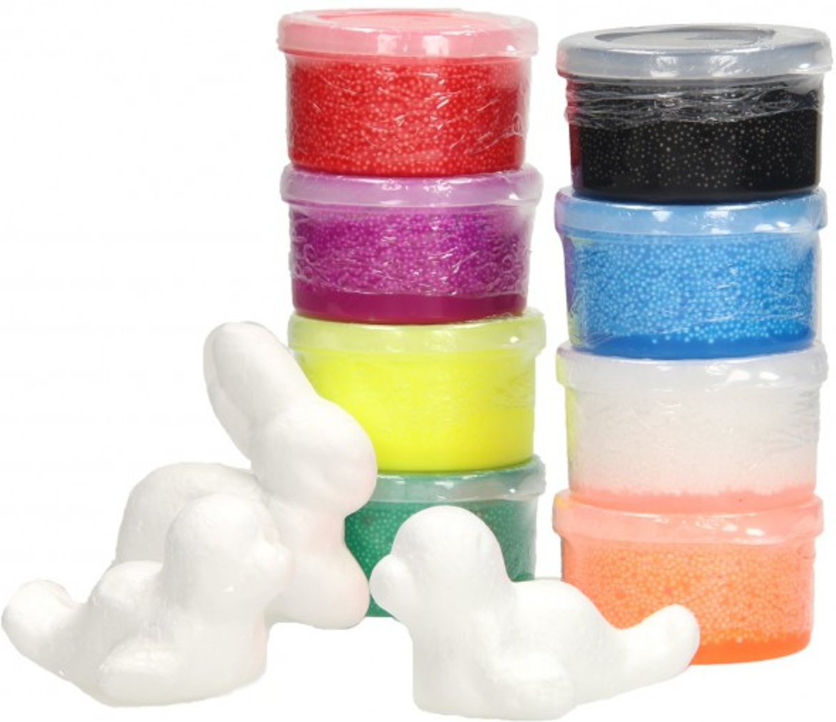 Foam Putty 8 Kleuren inclusief 3 figuren - Foam Klei 8x40 gram