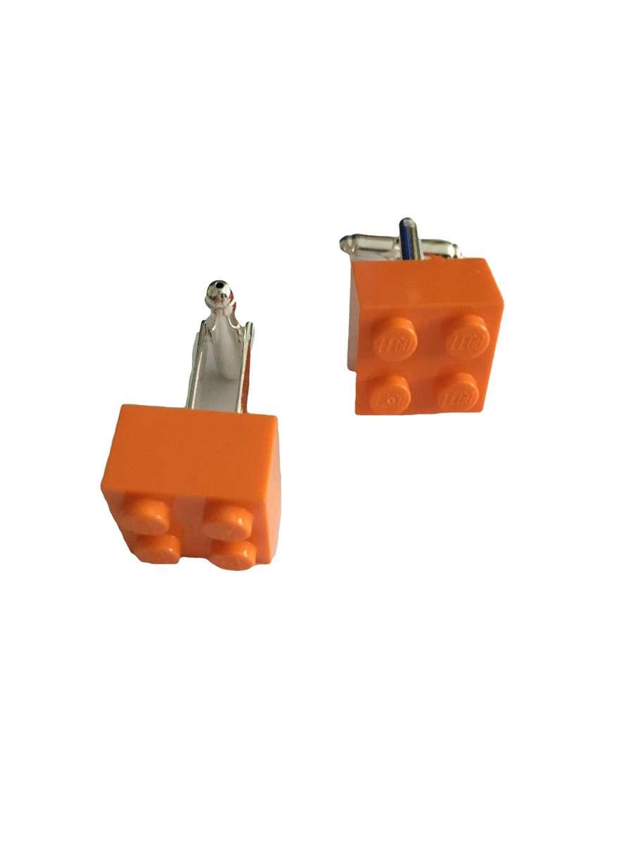 Manchetknopen Lego oranje kopen