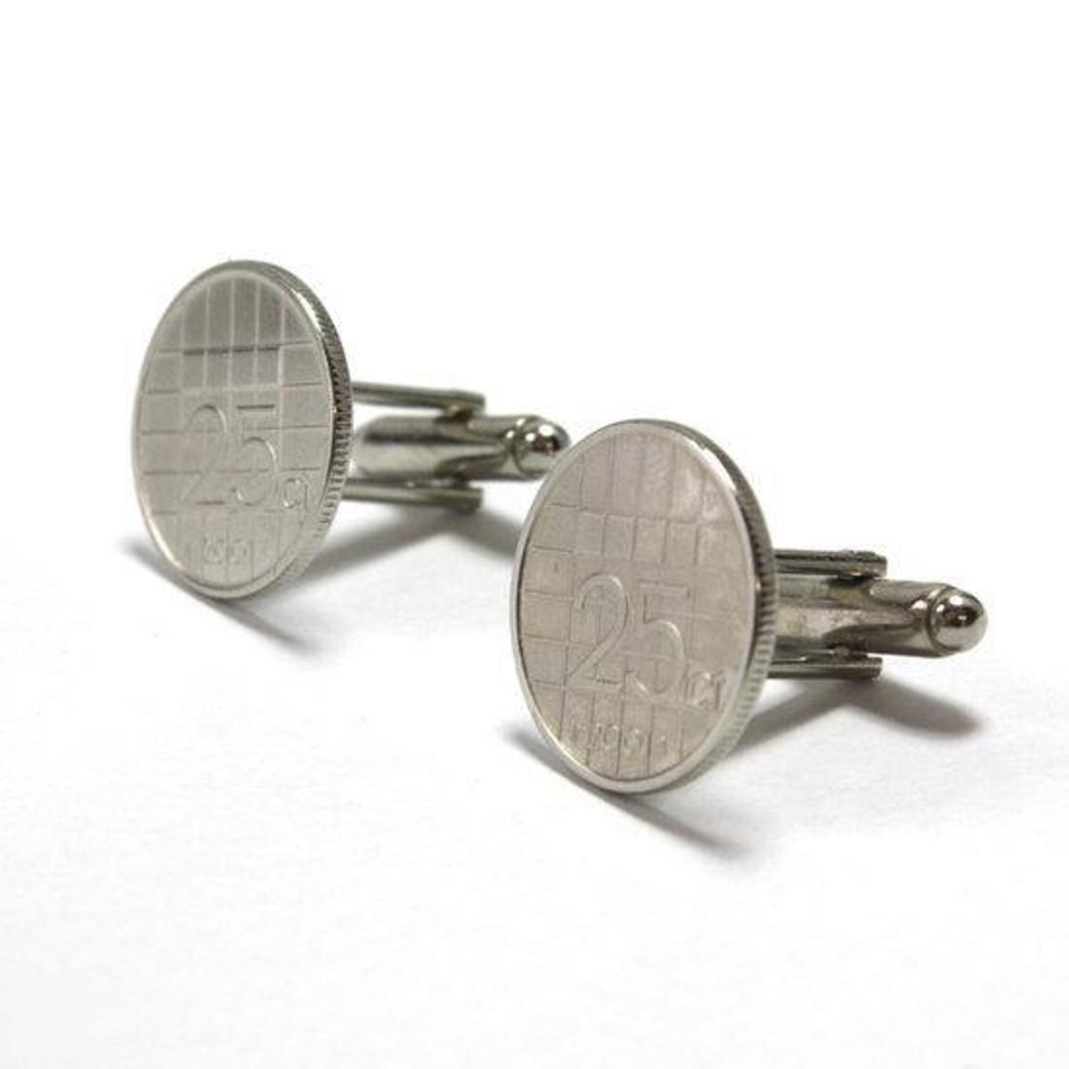 Custom Cufflinks Manchetknopen - Munt - 25 cent 2001 kopen