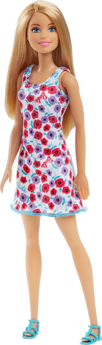 Barbie basis pop witte bloemetjesjurk