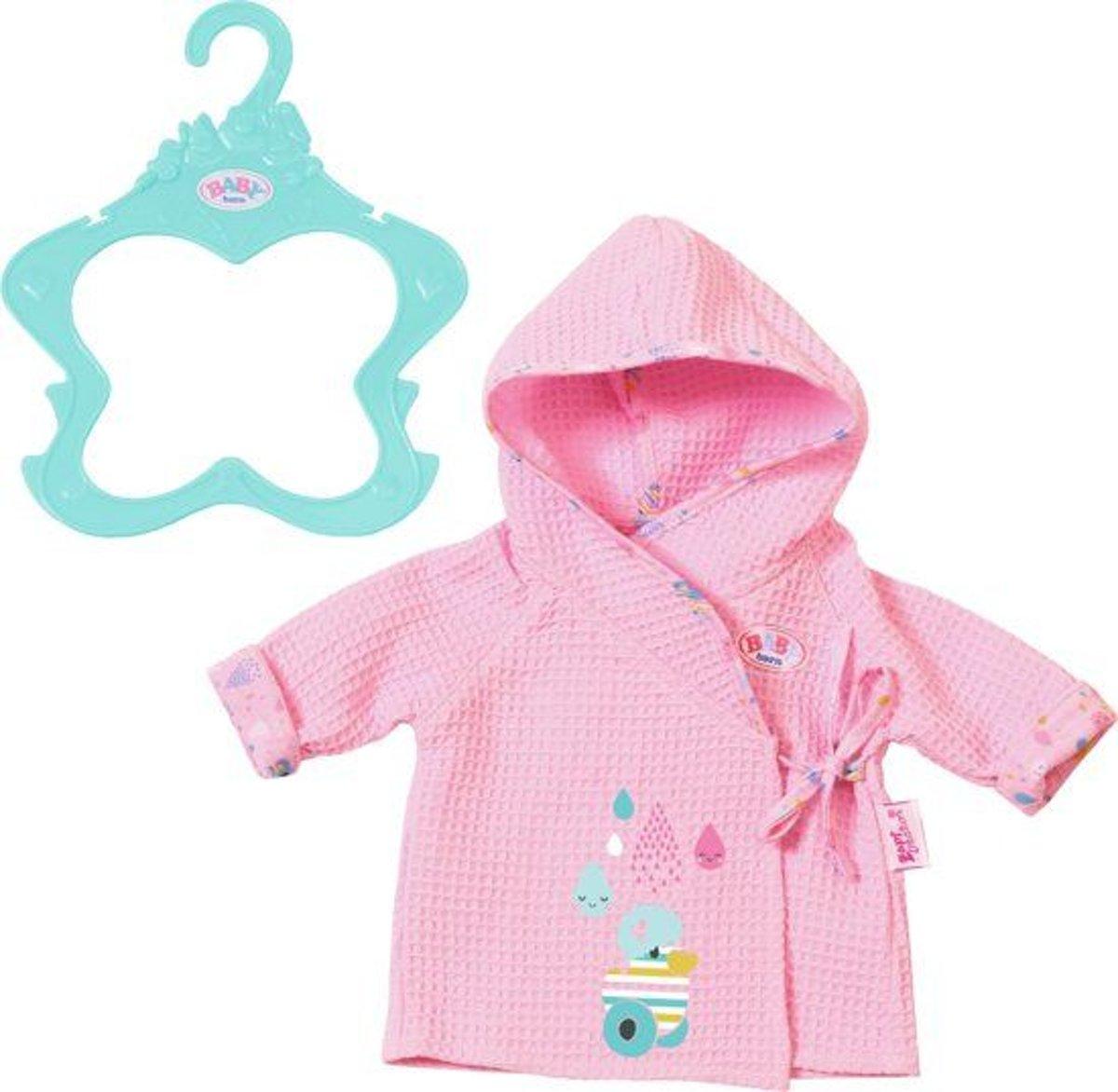BABY born? Badjas: roze