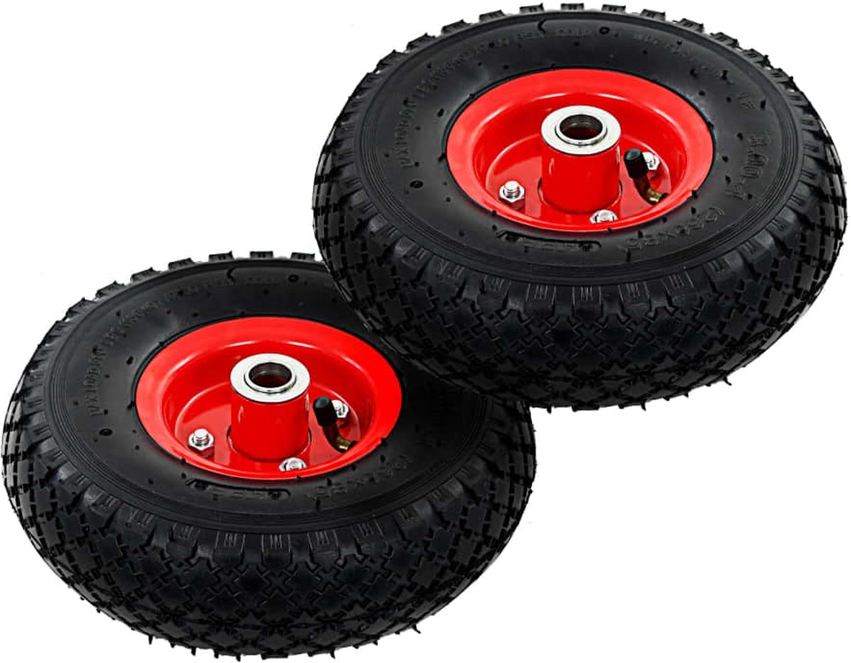 vidaXL Steekwagenwielen 3.00-4 (260x85) rubber 2 st kopen