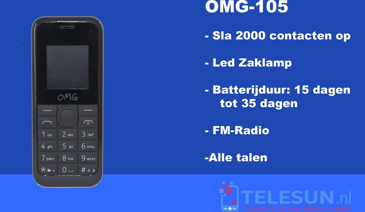 OMG 105 Telefoon Zwart kopen