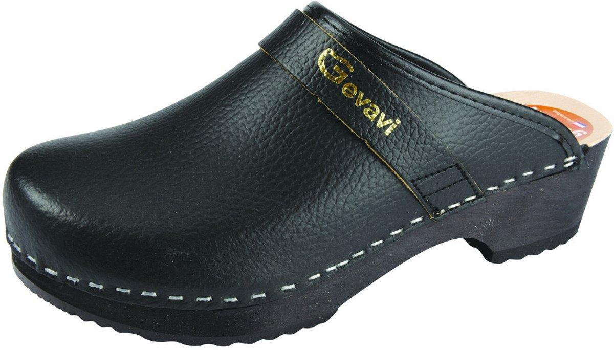 Gevavi Dakota open schoenklomp hout zwart maat 38 kopen