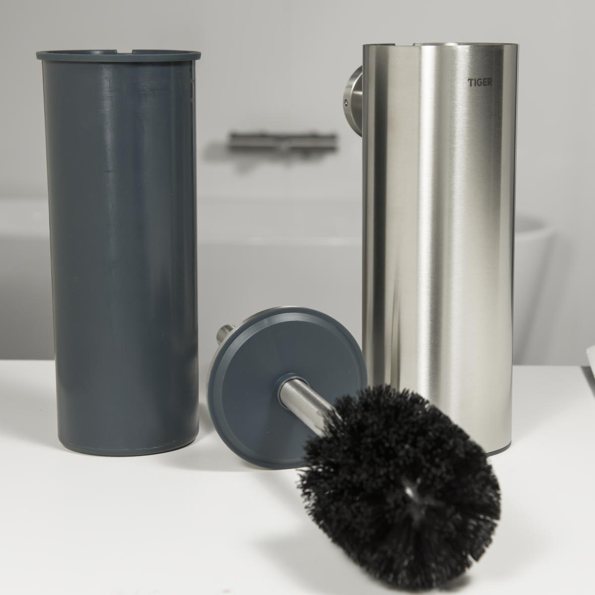 Populair bol.com   Tiger Boston Toiletborstel met houder - RVS Geborsteld FZ51