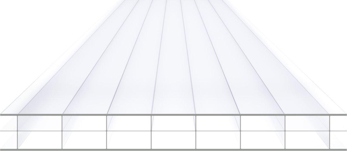Skylux Polycarbonaatplaat Polyclear 16mm 3-wandig Helder B125 x L200cmm kopen