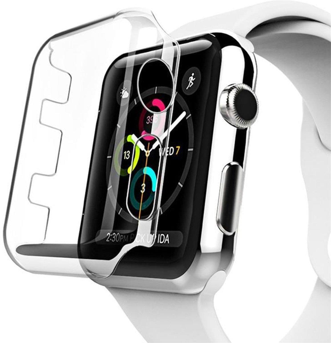 38mm Case Cover Screen Protector Transparent 4H Protected Knocks Watch Cases voor Apple watch voor iwatch 1 | Watchbands-shop.nl kopen
