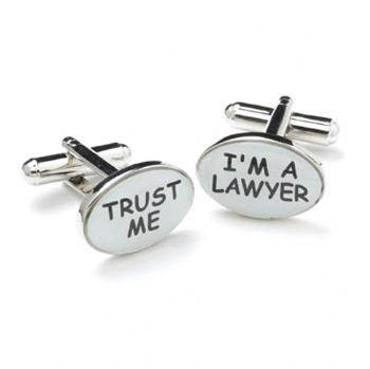 Manchetknopen Trust Me/Lawyer kopen