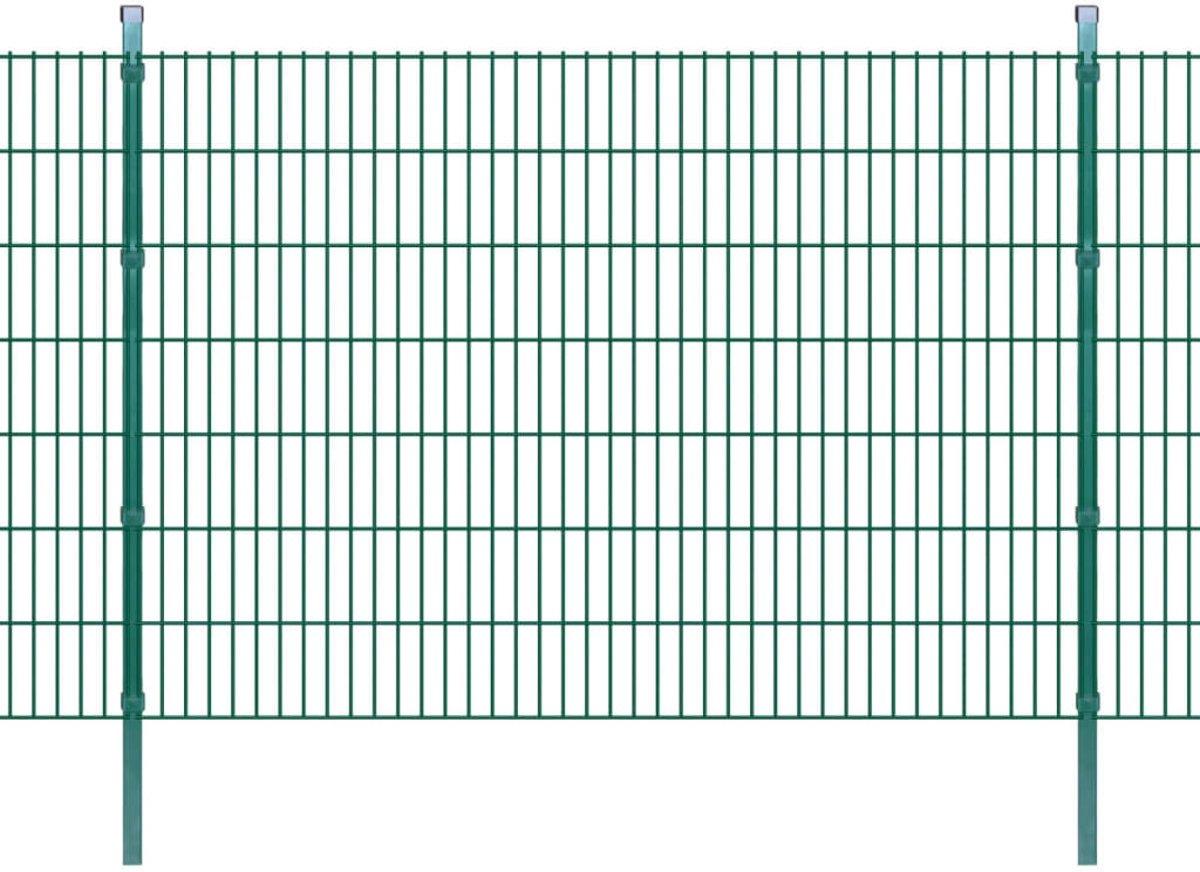 vidaXL Dubbelstaafmat 2008 x 1430 mm 6 m groen 3 stuks kopen