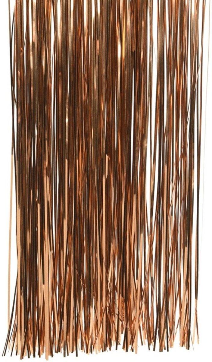 Koper bruine kerstversiering folie slierten 50 cm kopen
