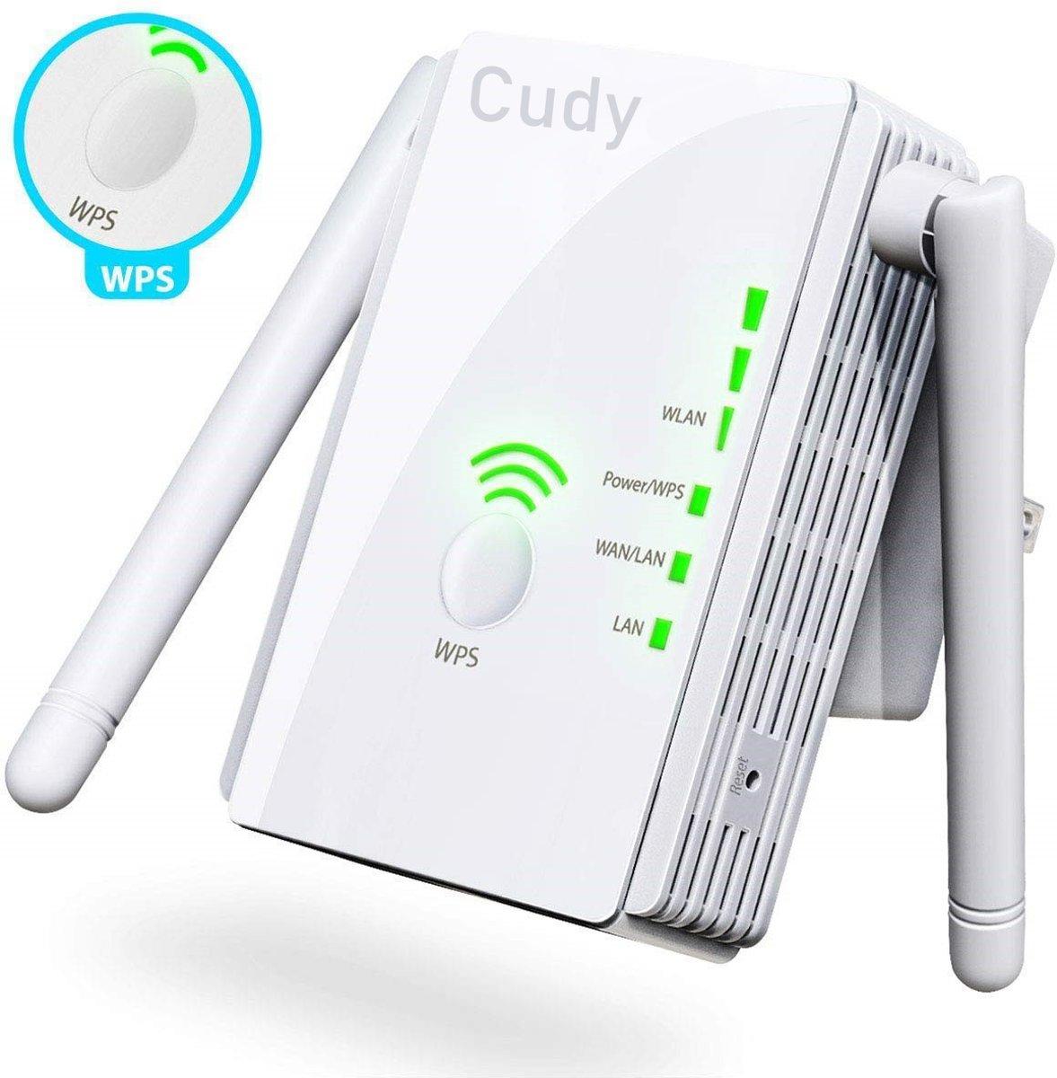 Cudy - Wifi Signaalversterker - Stopcontact - Ethernet - Wireless Range Extender- 300 mbps - 2.4 Ghz - Wit kopen
