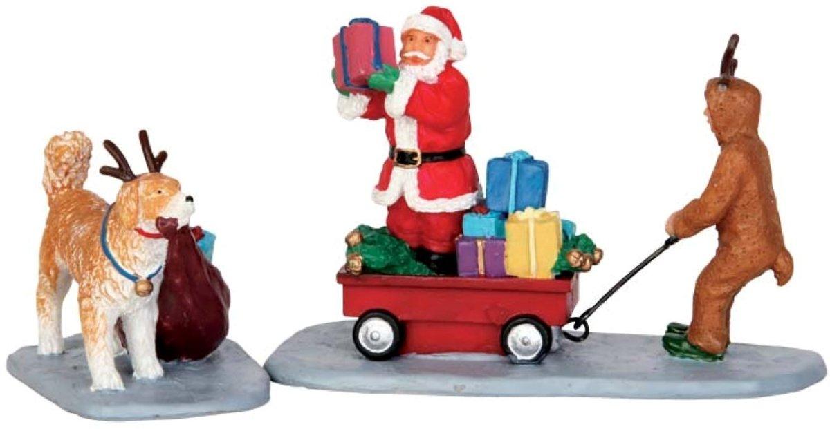 Lemax - Playing Santa - Set of 2 kopen