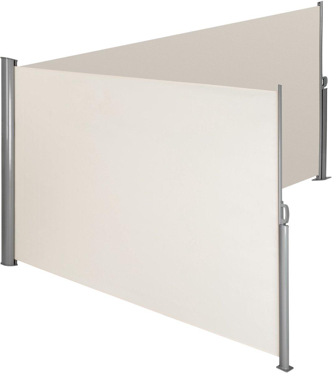 TecTake - aluminium windscherm - dubbel - 200 x 600 cm - beige - 402339 kopen