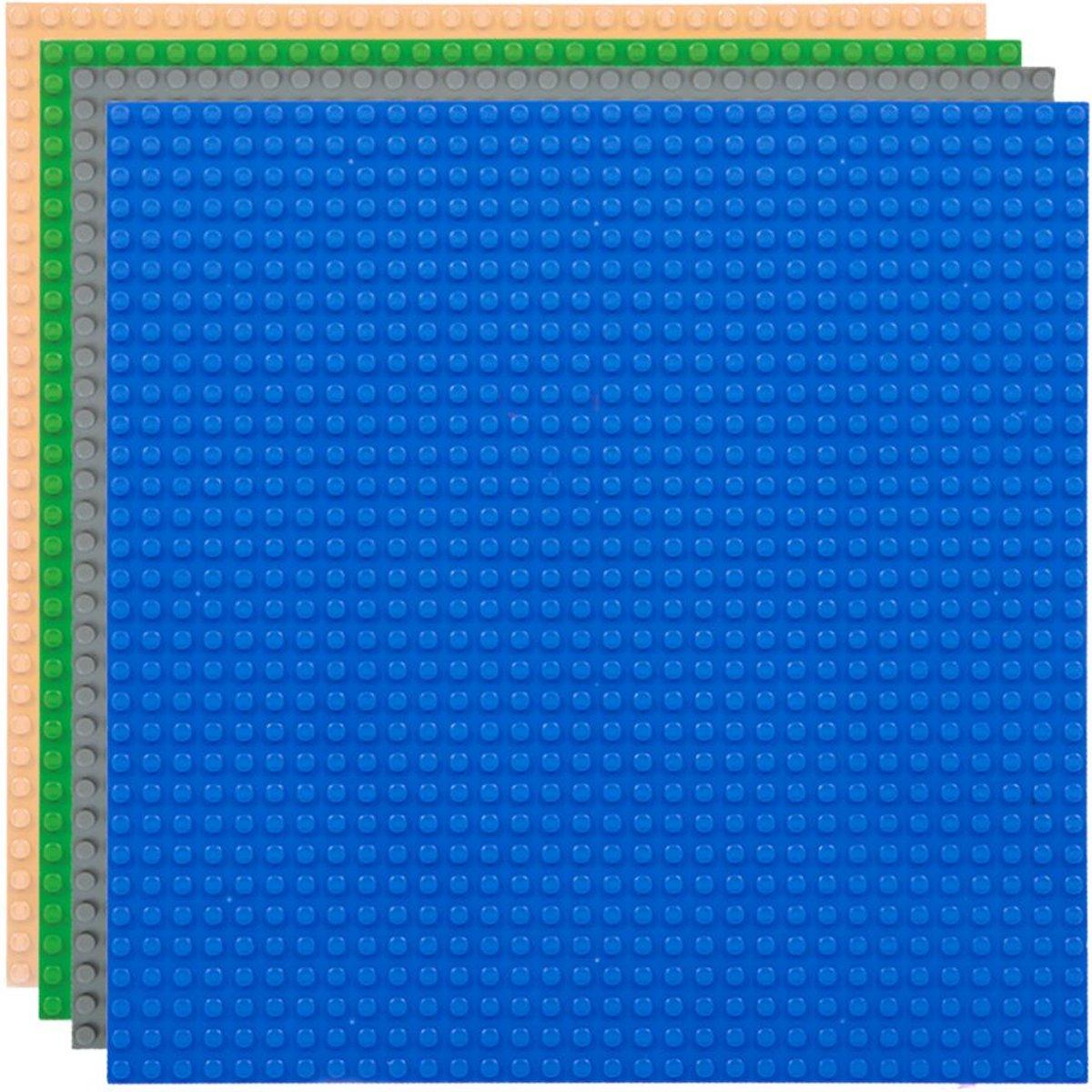 Strictly BRIKS LBPM324E4 Bouwplaat 32x32 Vierpak Blauw-Grijs-Groen-Zand