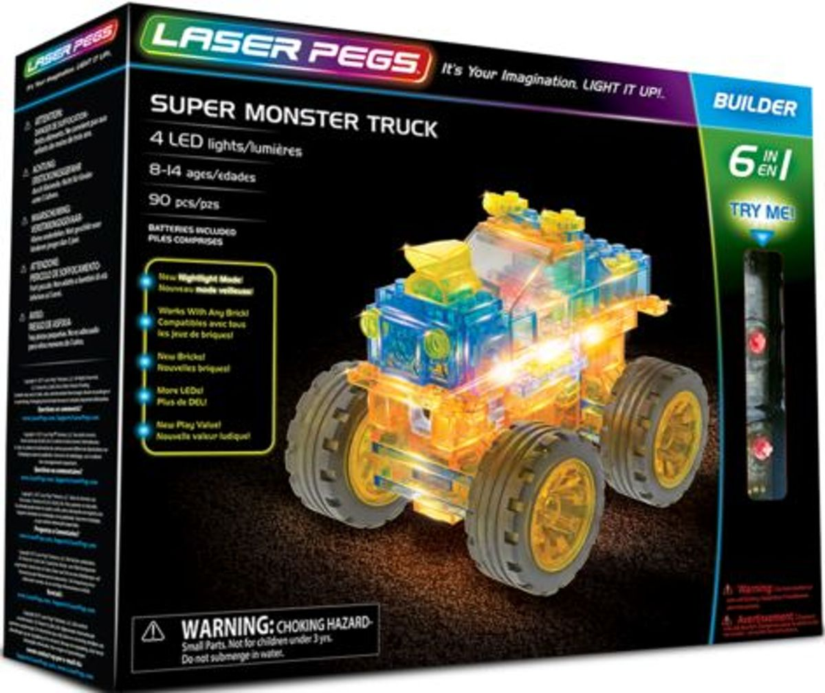 Super monster truck Laser Pegs 6 in 1