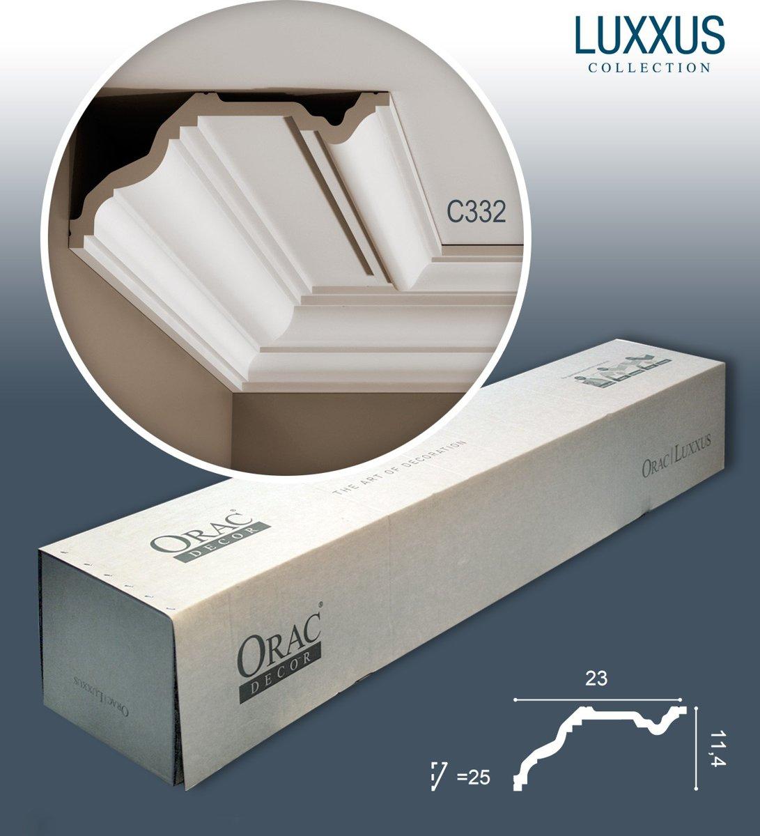 1 doos 10 Kroonlijsten Origineel Orac Decor C332 LUXXUS Plafondlijsten Sierlijsten 20 m kopen