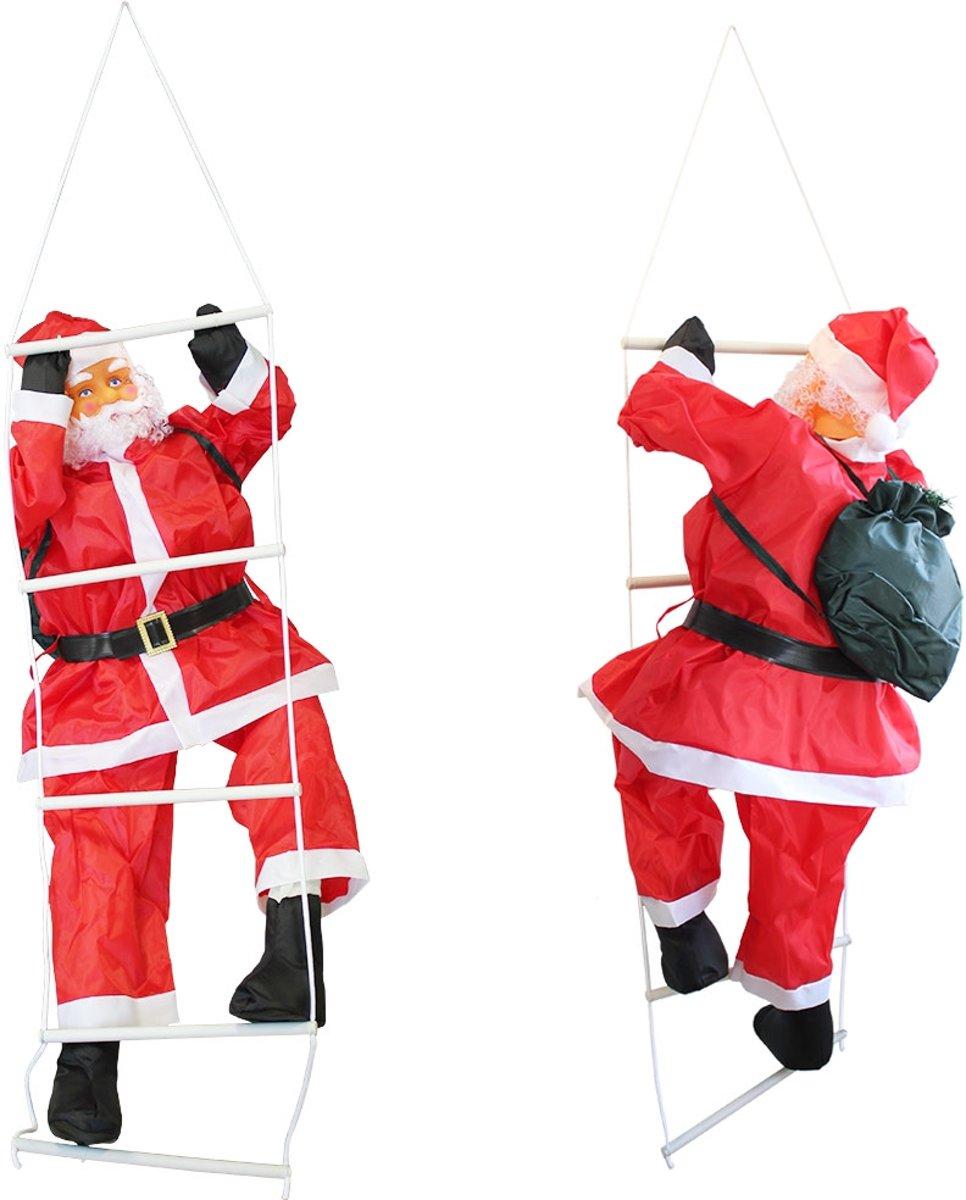 [lux.pro]® Kerstman op ladder - 90 - 60x50cm kopen