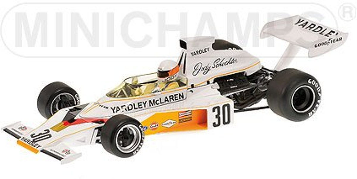 McLaren Ford M23 Yardley J. Scheckter British GP 1973 - 1:18 - Minichamps