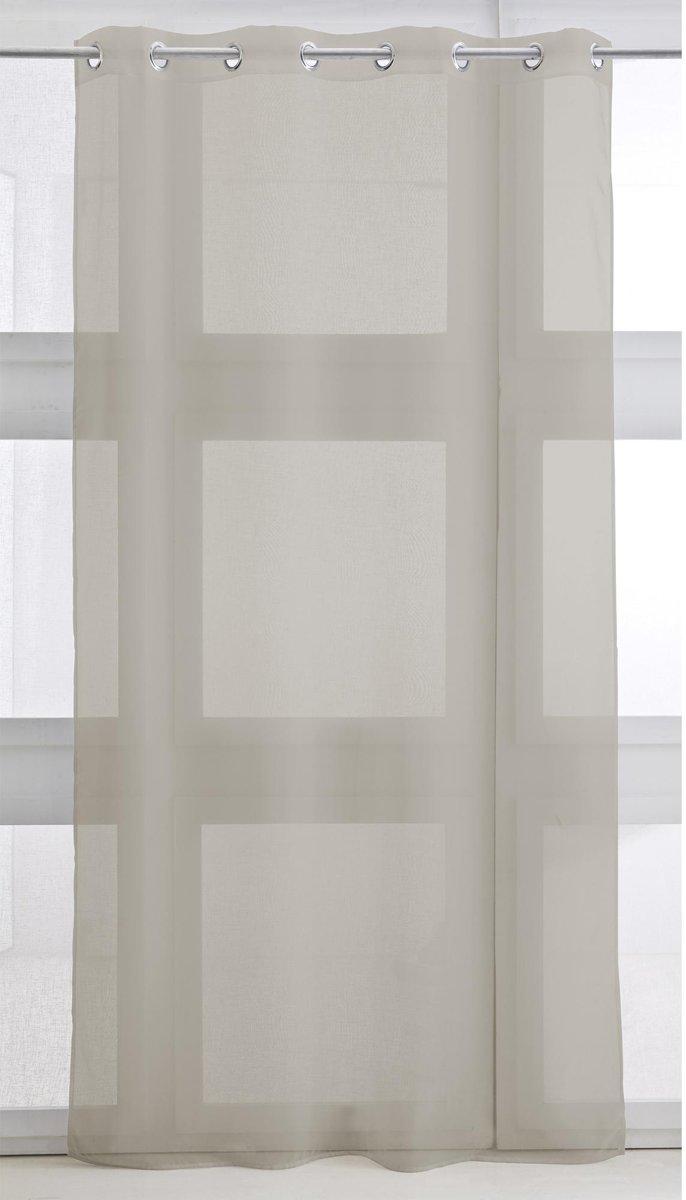 Vitrage met ring - kant en klaar gordijn - 135cm x 240cm - Mastic - kopen