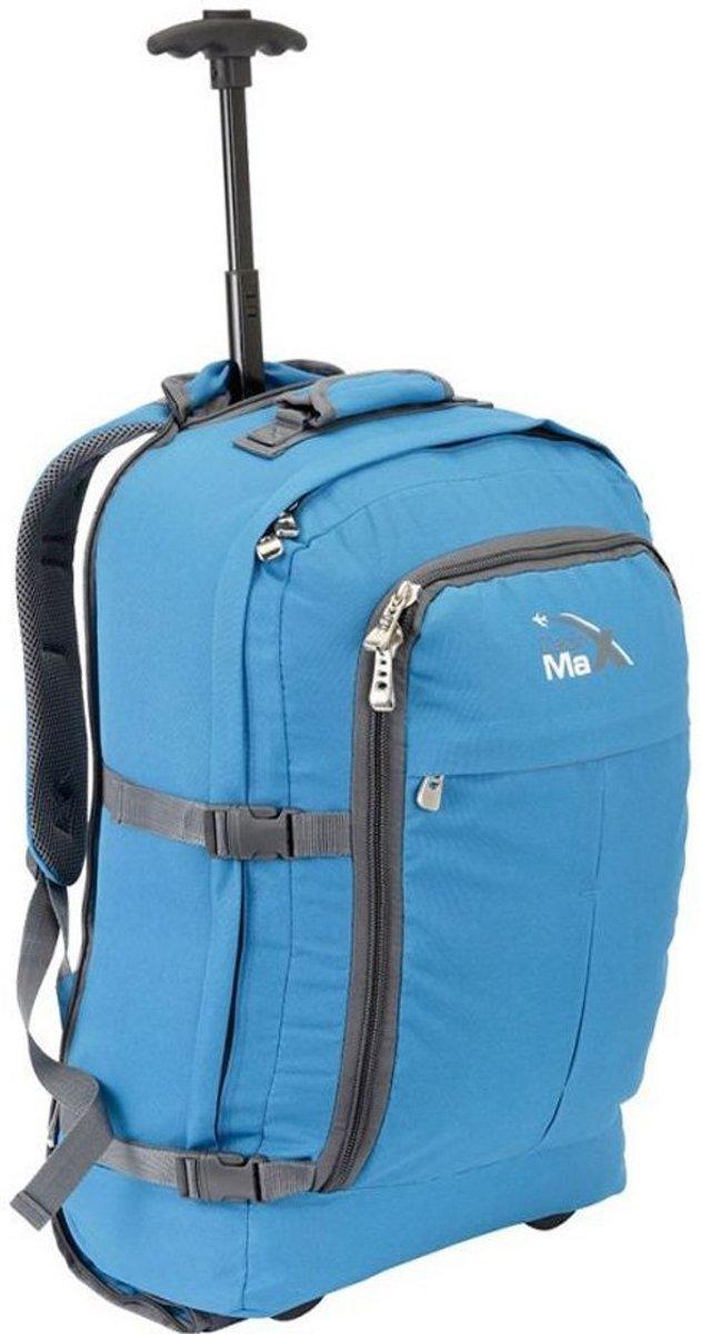 CabinMax Rugzaktrolley - Handbagage -  55x40x20 cm - Lyon - Blauw  (LYON BE) kopen