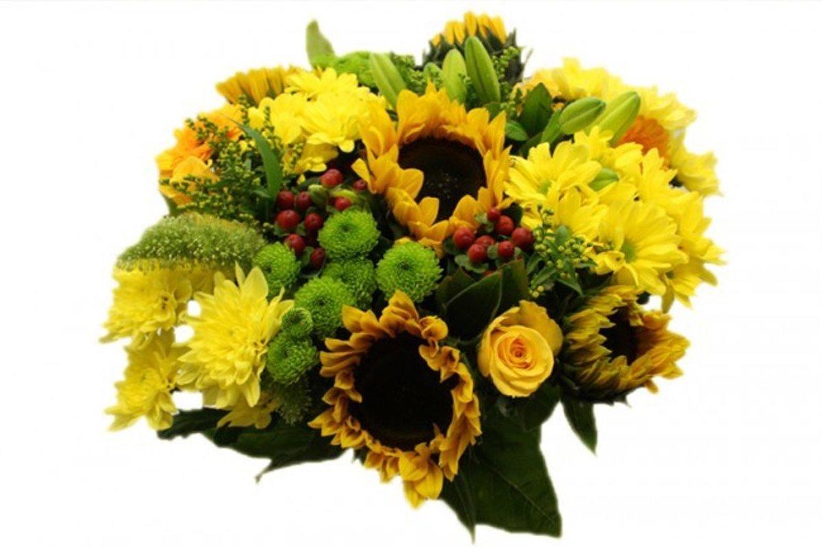 Zonnebloemen XL boeket met gele bloemen kopen