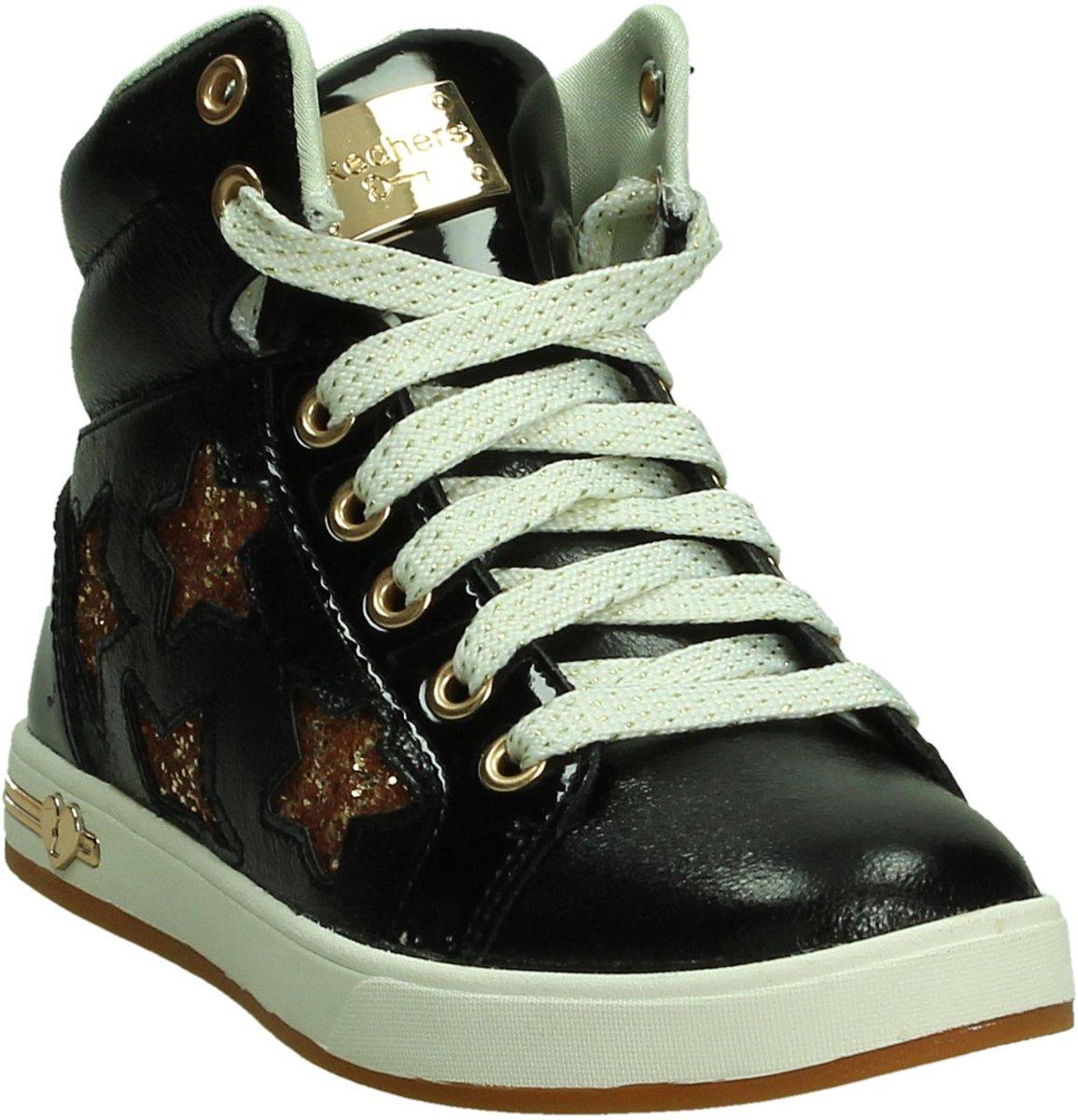 Skechers - 84320 - Sneaker Sportive Haute - Filles - Taille 34 - Noir - Bkgd Or Noir k7Kwr8