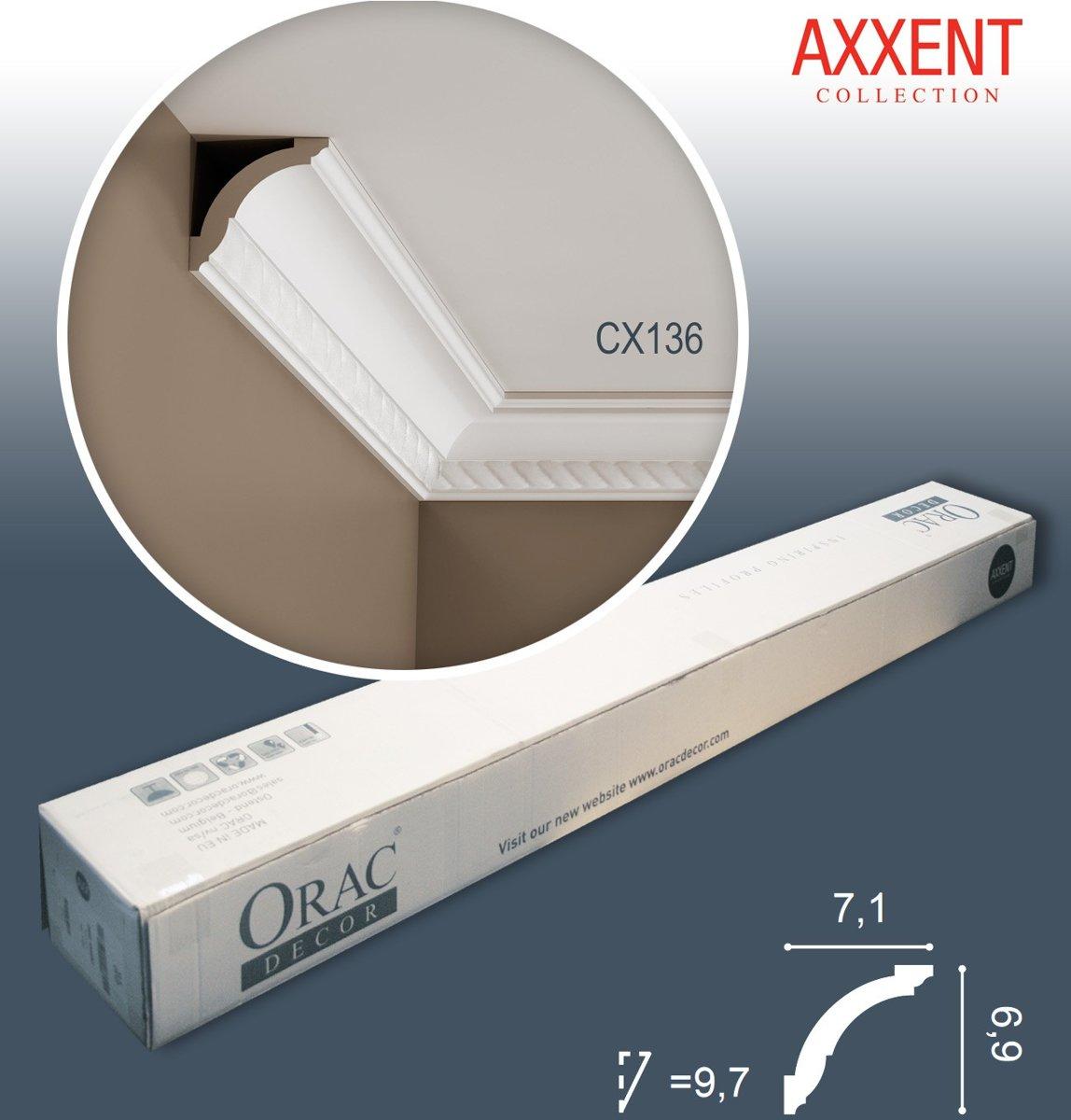 1 doos 24 Kroonlijsten Origineel Orac Decor CX136 AXXENT Plafondlijsten Sierlijsten 48 m kopen