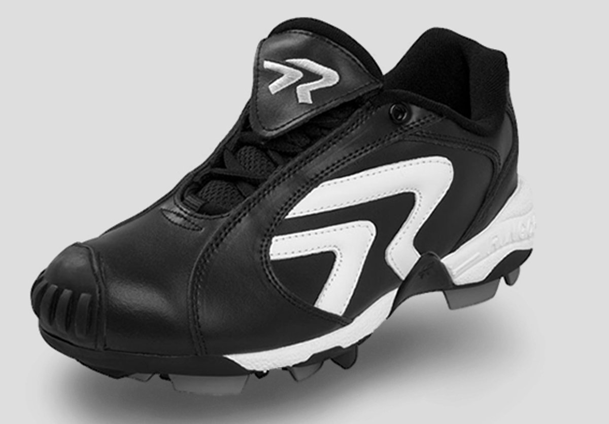 Ringor Diamond Star Softbal Schoenen met Kunstof Spikes en PTT-neus - Black - US 7,5