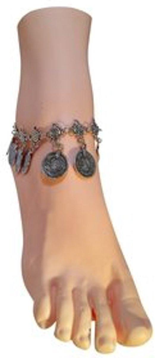 armbandjesdirect - Enkelbandje met muntje zilver kopen