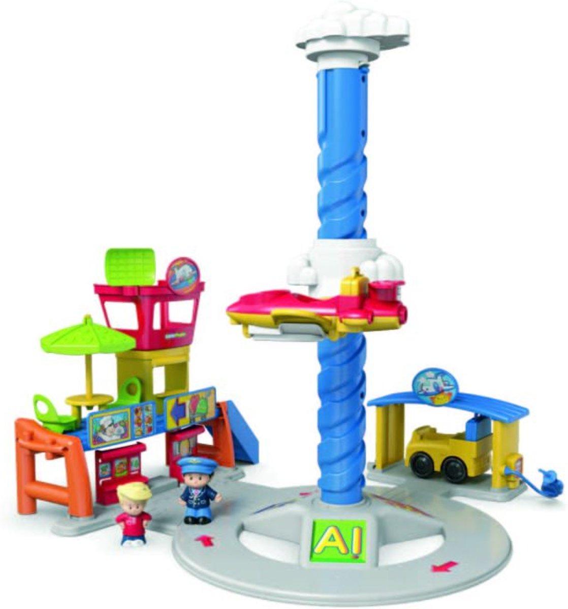 Fisher Price Little People Vrolijke Geluiden Vliegveld - Speelfigurenset