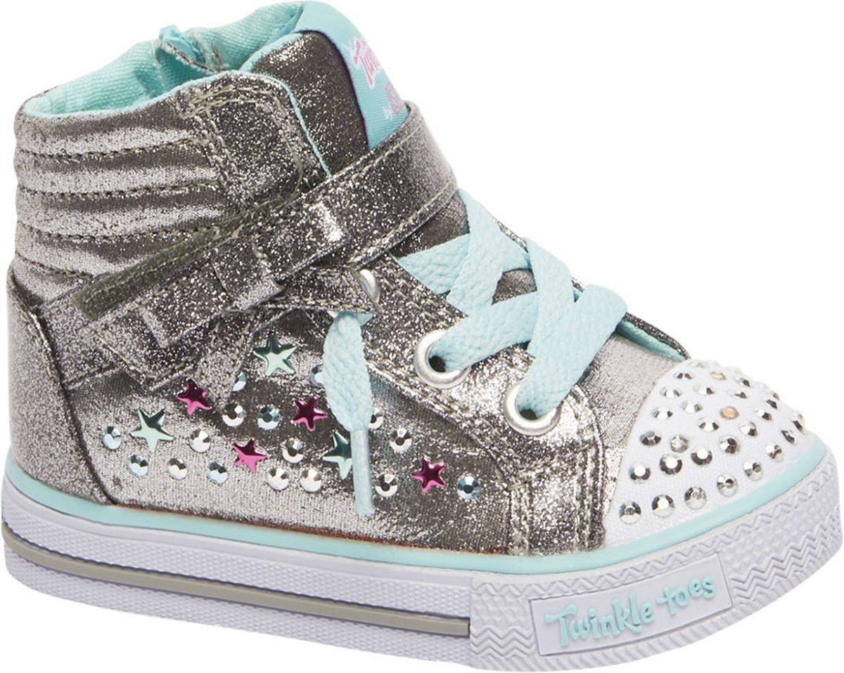 | Skechers Kinderen Zilveren sneaker glitter Maat 24